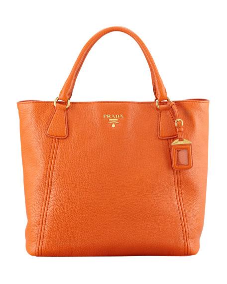 Daino Snap-Top Tote Bag, Orange