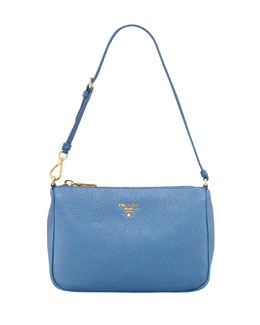 Prada Daino Small Shoulder Bag, Cobalt (Cobalto)