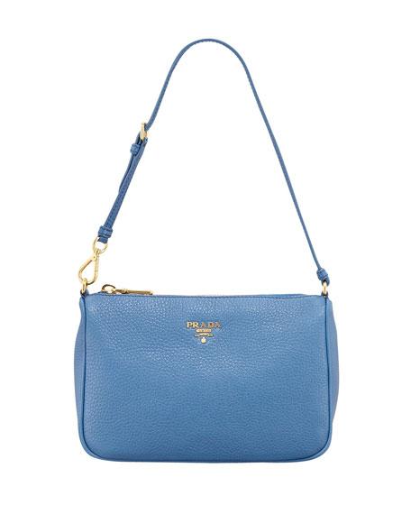 Daino Small Shoulder Bag, Cobalt (Cobalto)