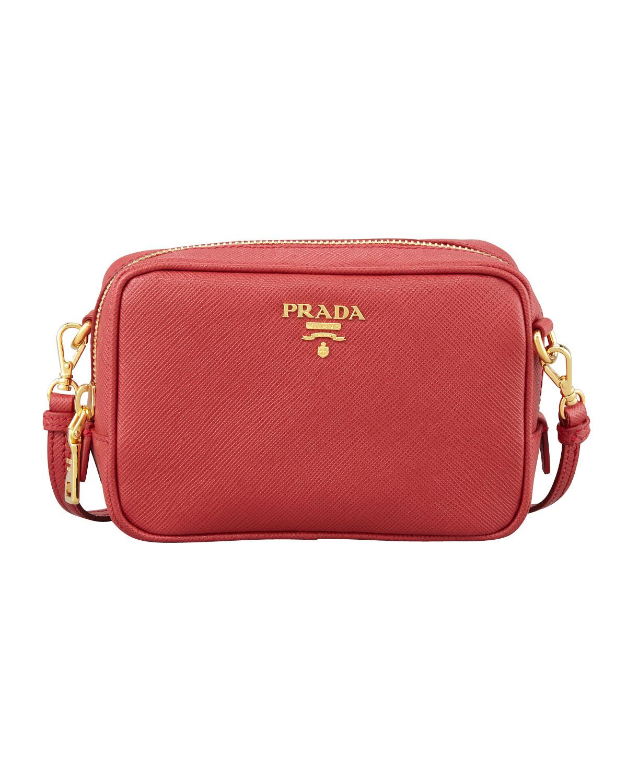 4642ad3b110b Prada Saffiano Mini Zip Crossbody Bag