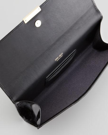 Reese Leopard-Print Calf Hair Clutch Bag