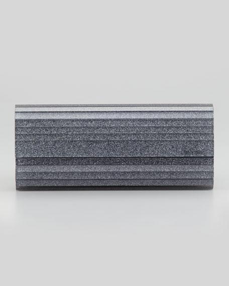 Sweetie Glittery Acrylic Clutch Bag, Gray