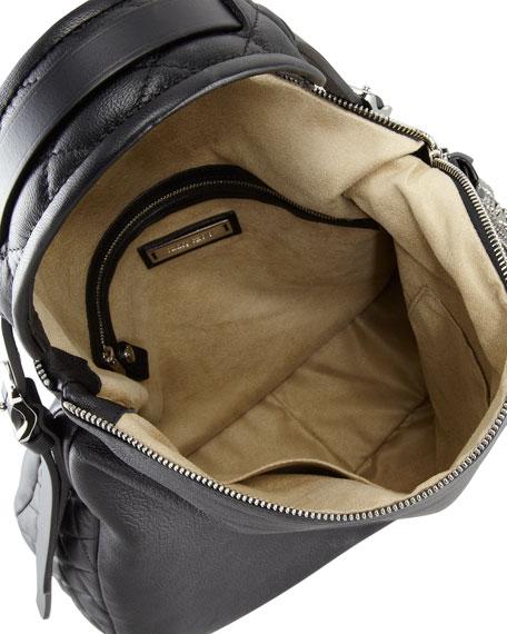 Boho Biker Hobo Bag, Black