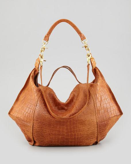 Crocodile-Embossed Dunnaway Tote Bag