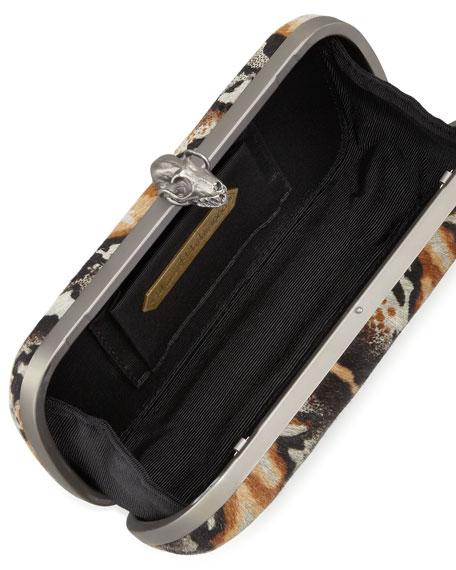 Wynn Calf Hair Skull Clutch Bag