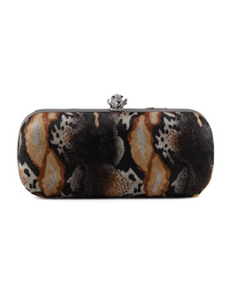 House of Harlow Wynn Calf Hair Skull Clutch Bag