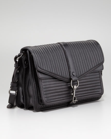 Hudson Moto Crossbody Bag, Black