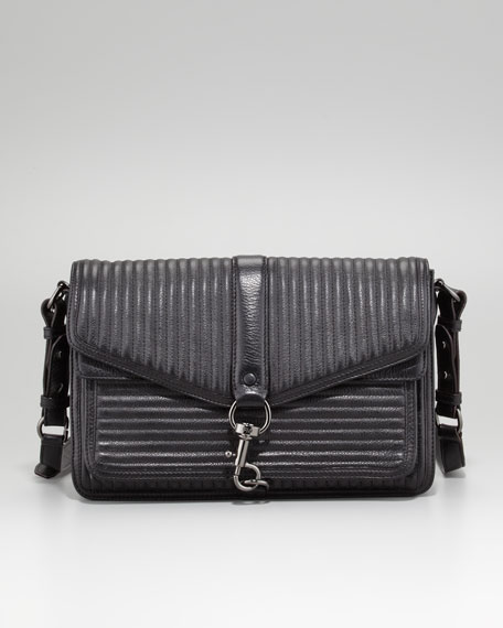 Hudson Moto Crossbody Bag, Black