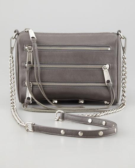 Rebecca Minkoff Mini 5-Zip Crossbody Bag, Gray