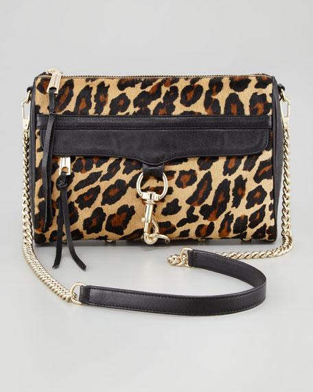 M.A.C. Leopard-Print Calf Hair Crossbody Bag