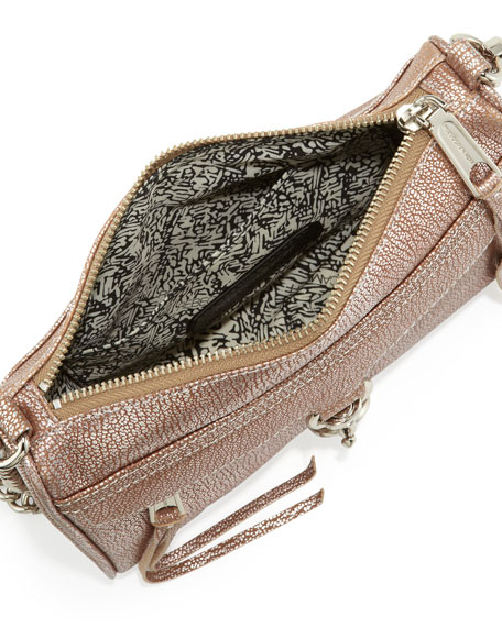 Mini MAC Metallic Crossbody Bag, Rose Gold (Stylist Pick!)
