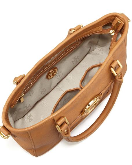 Amanda Mini Satchel Bag, Tan