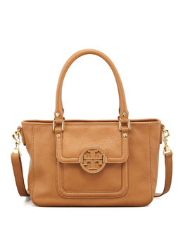 Tory Burch Amanda Mini Satchel Bag, Tan