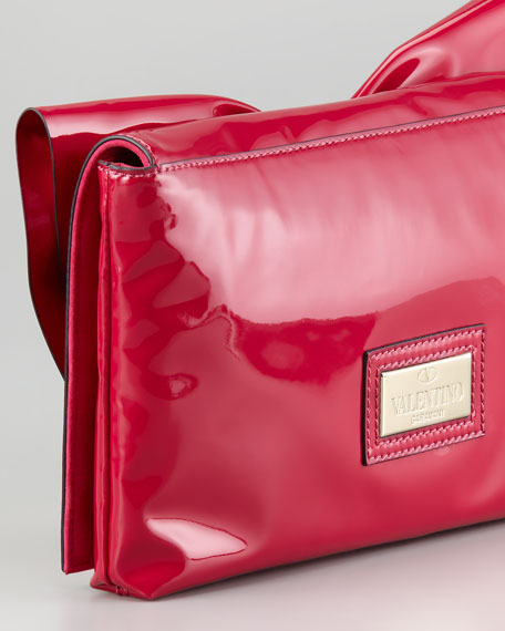Valentino Lacca Bow Clutch Bag, Pink