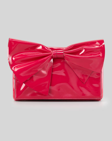 Lacca Bow Clutch Bag, Pink