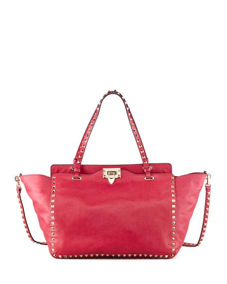 Rockstud Medium Tote Bag, Pink