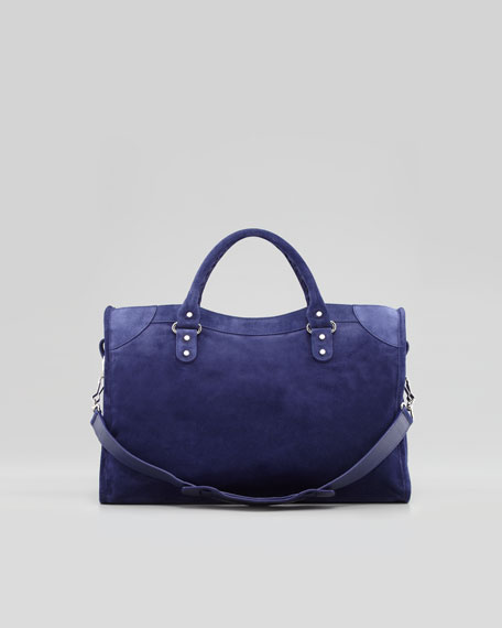 Classic City Baby Daim Suede Bag, Blue