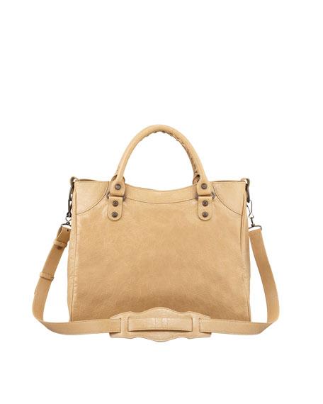 Classic Velo Crossbody Bag, Beige