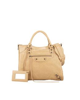 Balenciaga Classic Velo Crossbody Bag, Beige