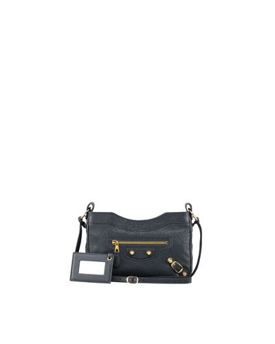 Balenciaga Giant 12 Golden Hip Crossbody Bag, Anthracite