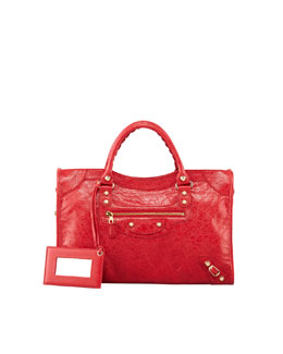 Balenciaga Giant 12 Golden City Bag, Rouge Cardinal