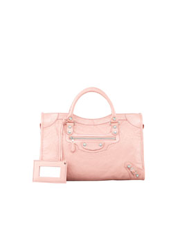 Balenciaga Giant 12 Nickel City Bag, Rose Peche