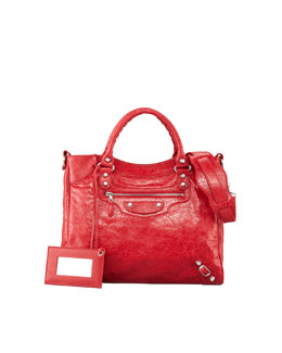 Balenciaga Giant 12 Nickel Velo Bag, Red