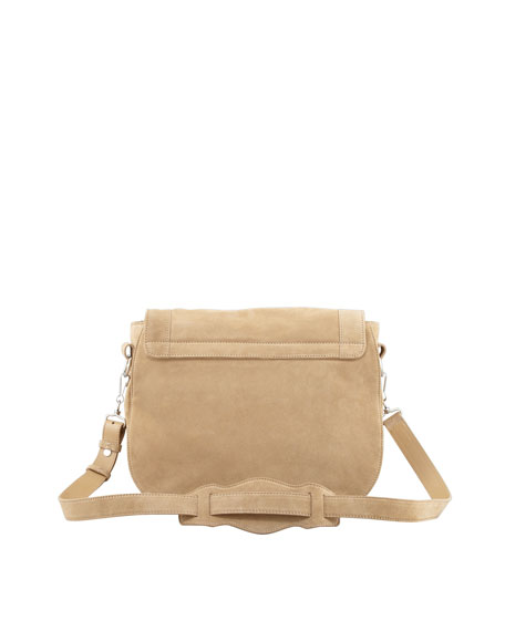 Classic Baby Daim Neo Folk Bag, Tan