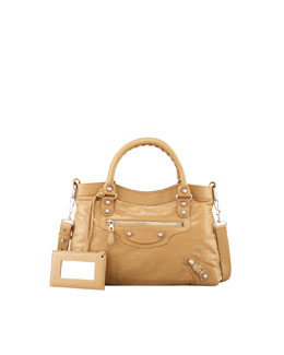 Balenciaga Giant 12 Nickel Town Bag, Beige