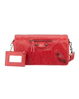Balenciaga Classic Tool Kit Crossbody Bag, Rouge Cardinal