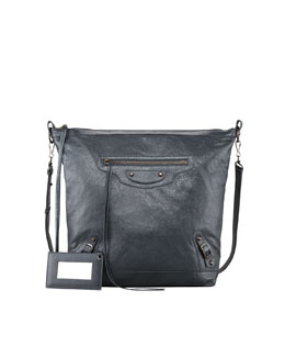 Balenciaga Classic Day Crossbody Bag, Gray