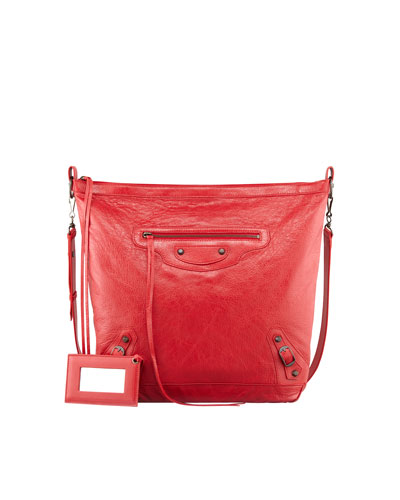 Balenciaga Classic Cross Day Bag, Rouge Cardinal