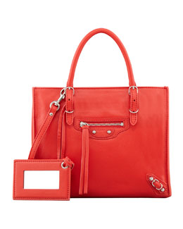 Balenciaga Papier A4 Mini Magnet Tote Bag, Red