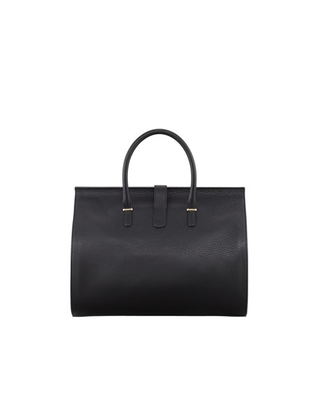 Tube Round M Tote Bag, Black