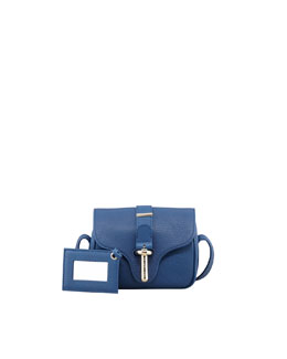 Balenciaga Tube Crossbody Bag, Blue
