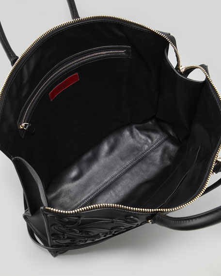 Intricate Soutache Tote Bag, Black