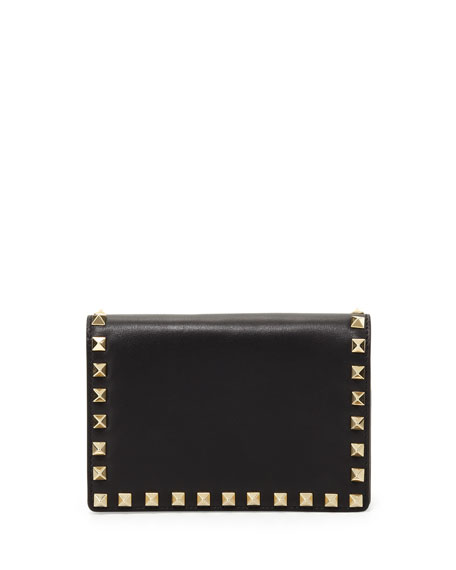 Rockstud Small Chain Pochette Bag, Black