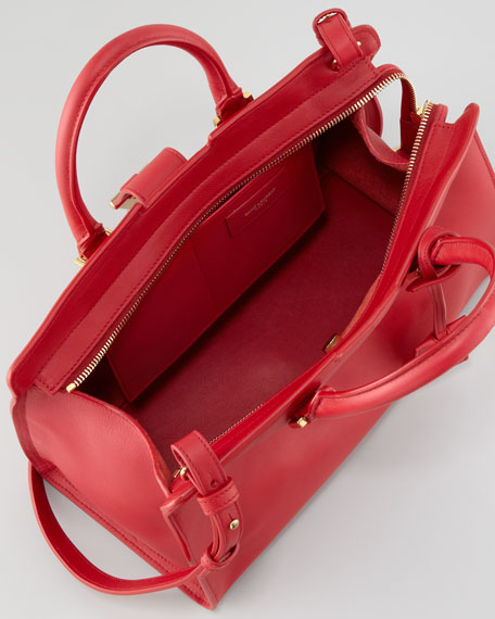 Y-Ligne Cabas Mini Leather  Bag, Red