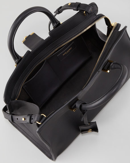 Y-Ligne Cabas Mini Leather  Bag, Black