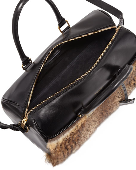 3 Hour Fur Crossbody Duffel Bag