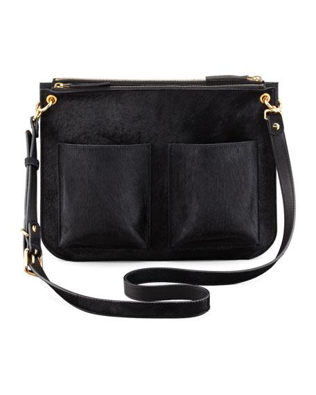 Bandoleer Calf Hair Shoulder Bag