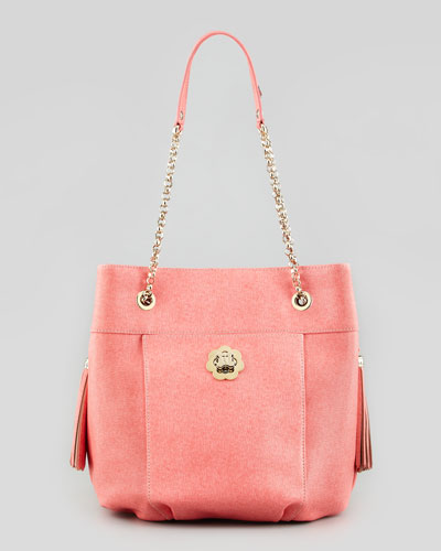 Eric Javits Tina Shoulder Bag, Guava
