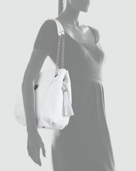 Tina Shoulder Bag, White