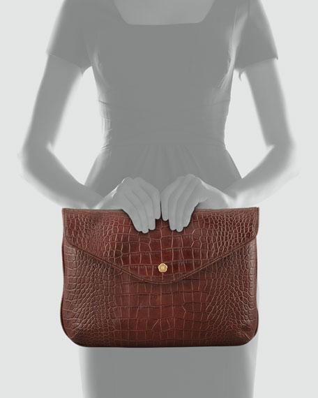 Olivia Clutch Bag, Walnut