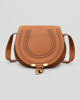 Chloe Marcie Small Crossbody Satchel Bag, Tan