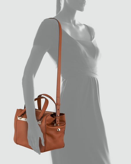 Bridget Mini Shoulder Bag, Brown