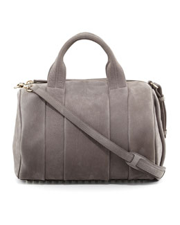 Alexander Wang Rocco Stud-Bottom Satchel Bag, Gray