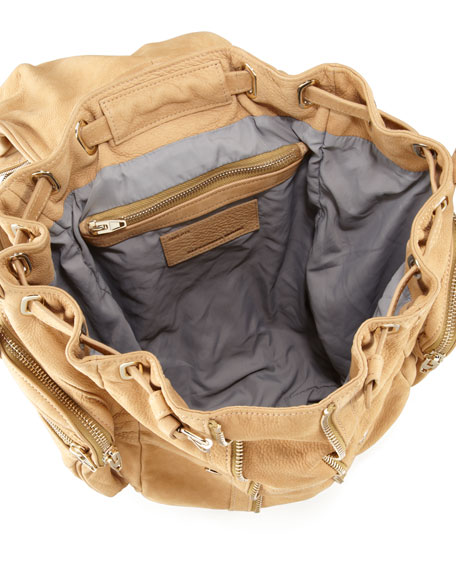 Marti Convertible Nubuck Backpack, Tan