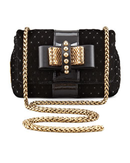 Christian Louboutin Sweety Charity Velvet Crossbody Bag, Black