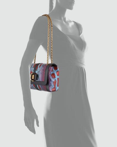 Sweet Charity Python Shoulder Bag